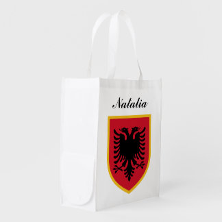 Albania Flag Reusable Grocery Bag