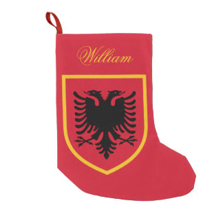 Albania Flag Small Christmas Stocking