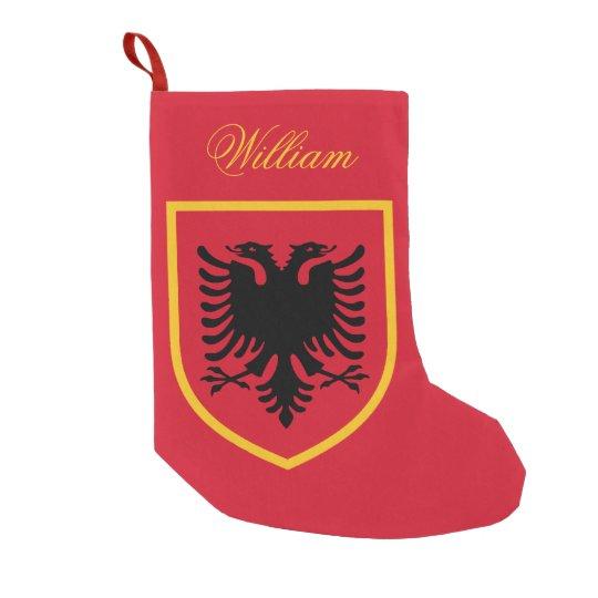 albania flag small christmas stocking zazzle com
