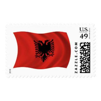 Albania Flag Stamps