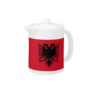Albania Flag Teapot