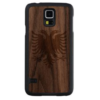 Albania Flag Carved® Walnut Galaxy S5 Slim Case