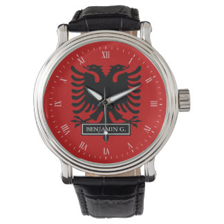Albania Flag Wrist Watch