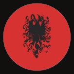 Albania Gnarly Flag Classic Round Sticker