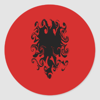 Albania Gnarly Flag Round Stickers