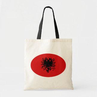 Albania Gnarly Flag Tote Bags