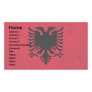 Albania Grunge Flag Business Card