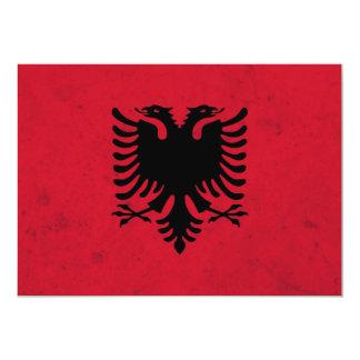 Albania Grunge Flag Card