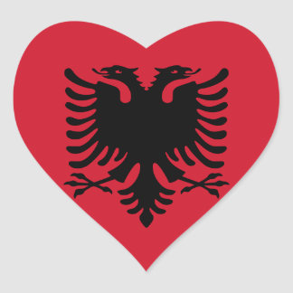 albania heart sticker