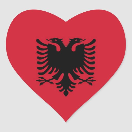 ALBANIA HEART STICKERS