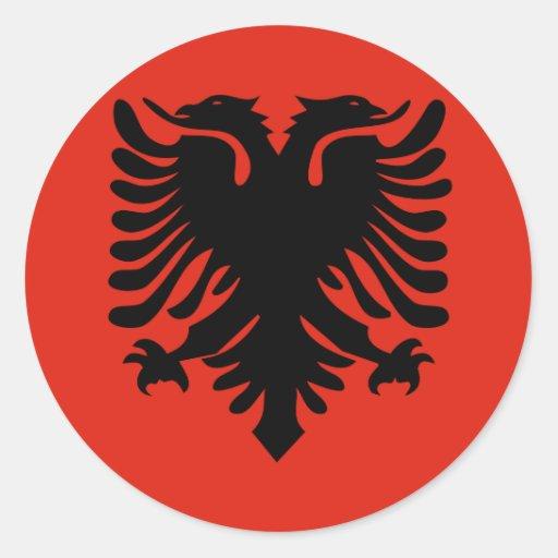 Albania High quality Flag Classic Round Sticker