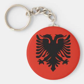 Albania High quality Flag Basic Round Button Keychain