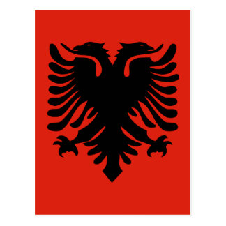 Albania High quality Flag Postcard