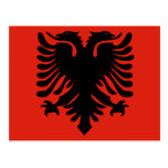 Albania High quality Flag Postcards