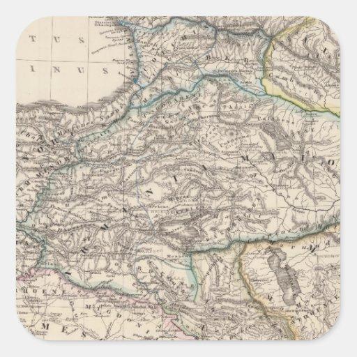 Albania, Iberia, Colchis, Armenia, Mesopotamia Pegatina Cuadrada