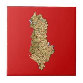 Albania Map Tile