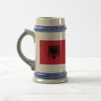 albania 18 oz beer stein