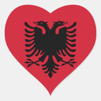 Albania Pegatina En Forma De Corazón
