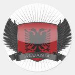 ALBANIA PEGATINA REDONDA