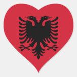 Albania Pegatinas Corazon Personalizadas