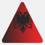 Albania Pegatinas De Triangulo Personalizadas