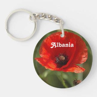 Albania Poppy Single-Sided Round Acrylic Keychain