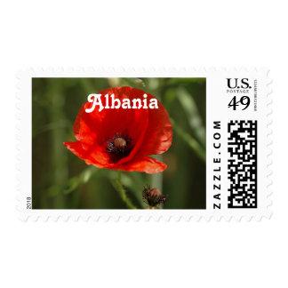Albania Poppy Postage Stamp