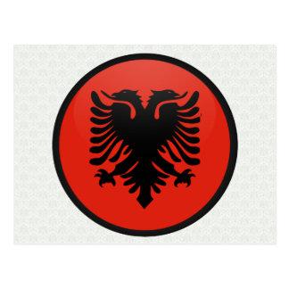 Albania quality Flag Circle Postcard