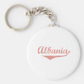 Albania Revolution Style Basic Round Button Keychain