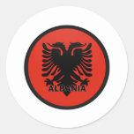 Albania Round Stickers