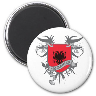 Albania Shield 3 2 Inch Round Magnet