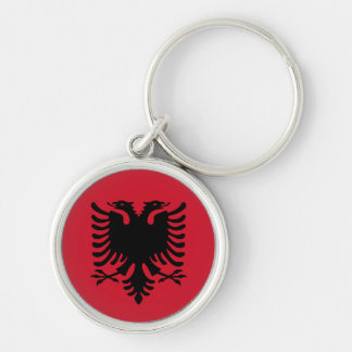 albania Silver-Colored round keychain