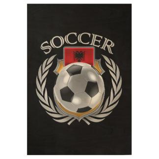 Albania Soccer 2016 Fan Gear Wood Poster