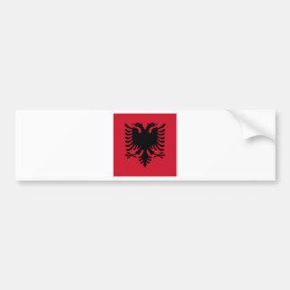 Albania Square Flag Bumper Sticker