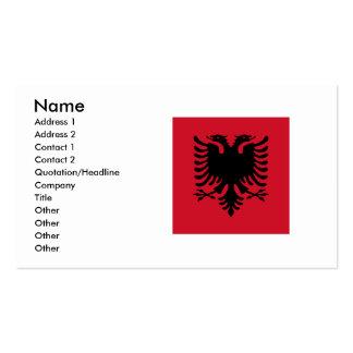 Albania Square Flag Business Card