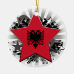 Albania Star Ceramic Ornament