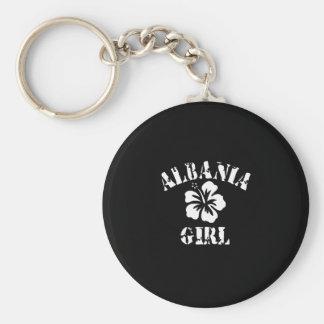 Albania Tattoo Style Basic Round Button Keychain