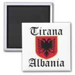 Albania Tirana Coat of Arms 2 Inch Square Magnet