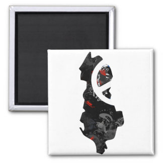 Albania Trendy Peace Sign with Albanian map Magnets