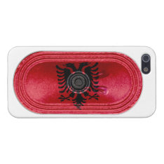 Albania Two Headed Eagle Flag Speaker Fx Iphone 5 Cover For Iphone Se/5/5s at Zazzle