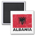 Albania Vintage Flag 2 Inch Square Magnet