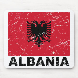 Albania Vintage Flag Mouse Pad