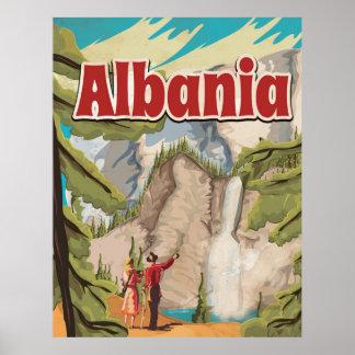 Albania Vintage Travel Poster