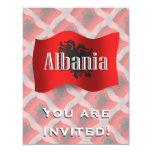 "Albania Waving Flag 4.25"" X 5.5"" Invitation Card"