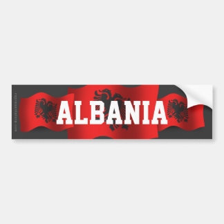 Albania Waving Flag Car Bumper Sticker