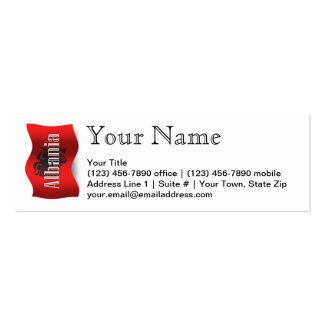 Albania Waving Flag Double-Sided Mini Business Cards (Pack Of 20)