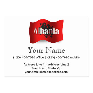 Albania Waving Flag Large Business Cards (Pack Of 100)