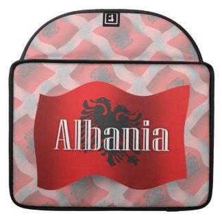 Albania Waving Flag Sleeves For MacBooks
