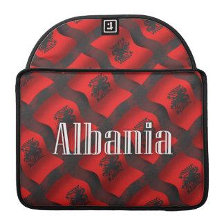 Albania Waving Flag Sleeves For MacBook Pro