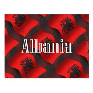 Albania Waving Flag Postcard